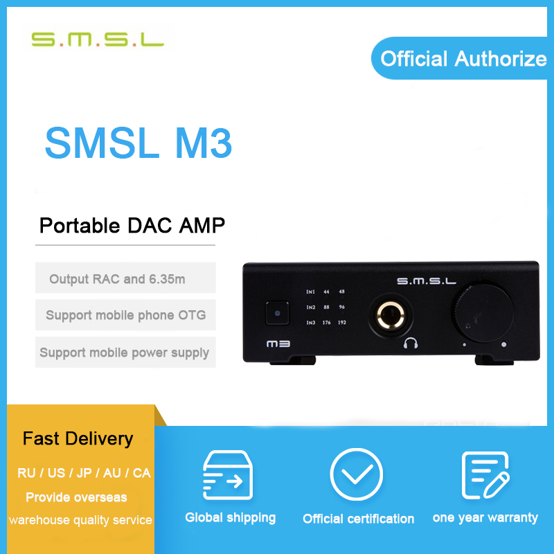 цена SMSL M3 hifi headphone amplifier portable mini headphone amp dac audio amplifier headphone CS4398 usb dac amp audio decoder онлайн в 2017 году