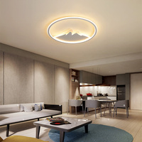 Led ceiling lamp creek creative ultra thin modern bedroom living room pendant lamps Indoor Lighting RC Dimmable Pendant light