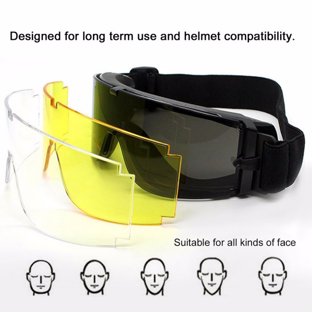 Military Goggles Tactical Glasses Airsoft X800 Skiing Glasses Eye Glasses Goggles Motor Eyewear Cycling Riding ski glasses glasses ski ski goggles glasses - title=