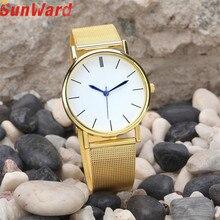 SunWard Women's Fashion Watch Stainless Steel Band Quartz Female Dress Quartz Bangle Bracelet Wrist Watch Relogio Feminino