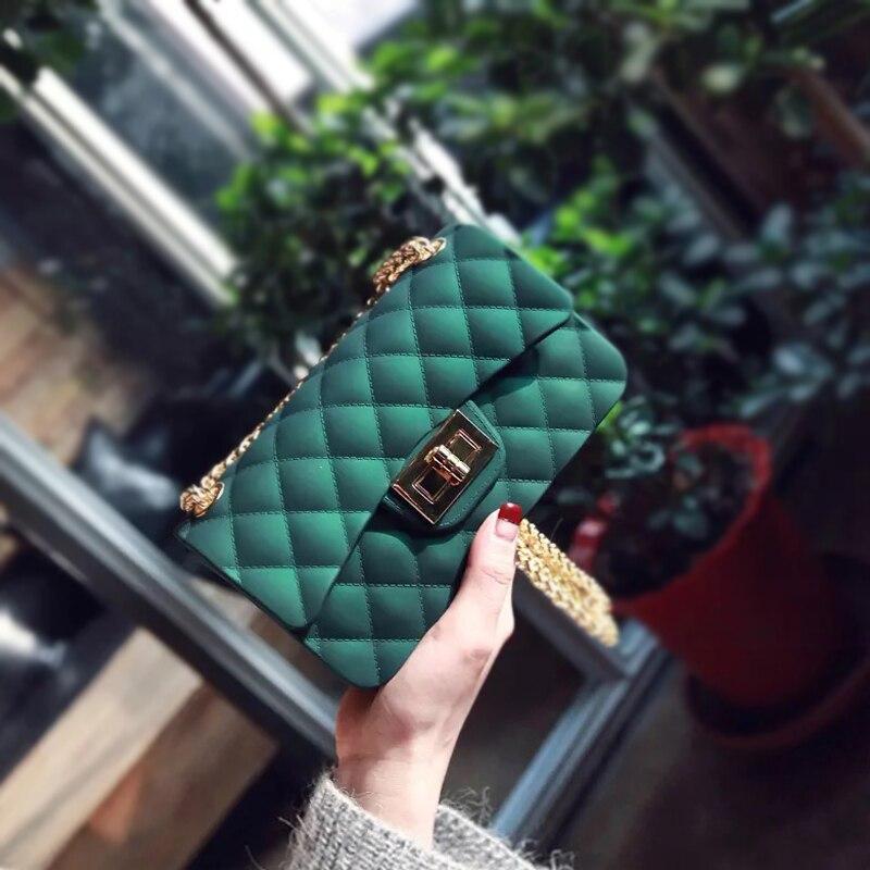 2018 новые весенние модные женские туфли сумка на плечо ремешок-цепочка клапаном ромбической Для женщин мини сумка клатч сумка crossbody сумка