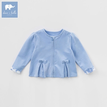 DBA6545 dave bella spring baby girls coat kids solid clothes children high quality lovely coat image