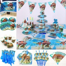 82pc/set Kids Birthday Party Supplies Tableware Decoration Favor Moana tablecloth plate cup napkin straw flag knife fork spoon