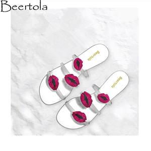 Beertola Slippers Luxury Design Black Woman Ladies Shoes 5c57081406