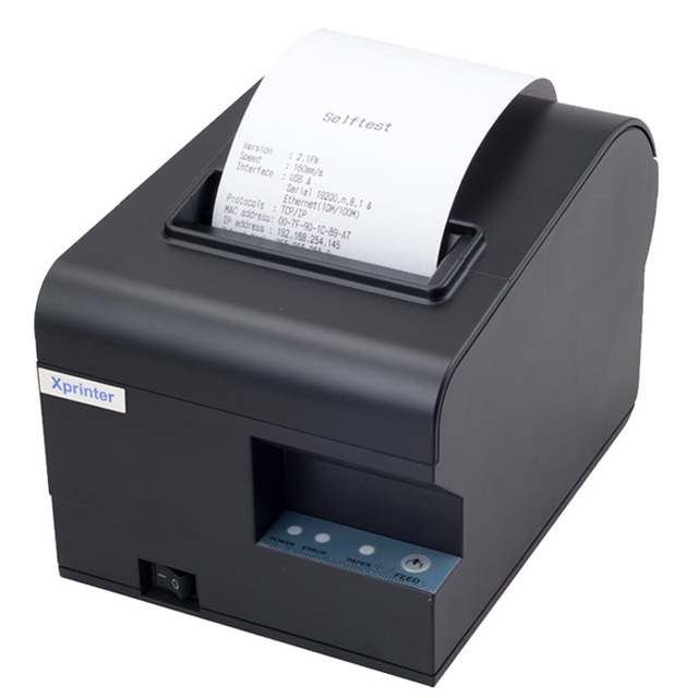 2016 Новый прибыть 80 мм автоматический резак чековый принтер кухня принтер USB + Serial/Ethernet может напечатать Qr код