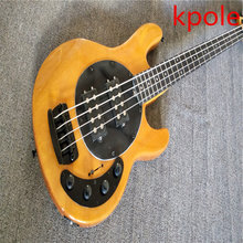 Factory Custom Shop 2017 Kpole  Top Quality Ernie Ball music man stingRay black electric bass 4string Musicman 9V active pickup