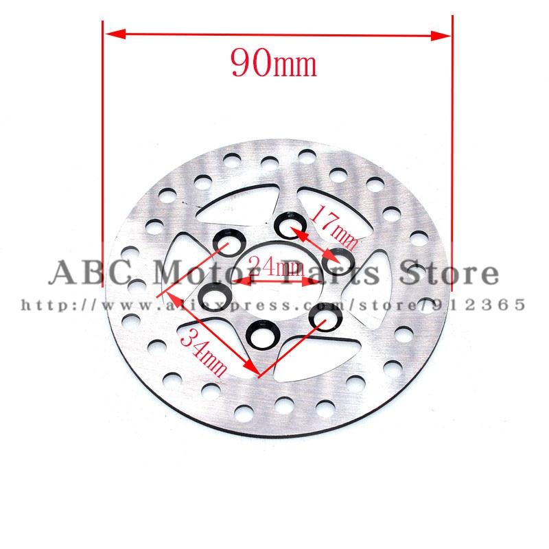 Disco de freno Rotor de 90mm diámetro exterior 6 agujeros para Mini moto ATV Quad scooter Eléctrico motocicleta