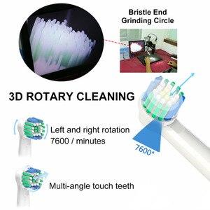 Image 3 - Döner Elektrikli Diş Fırçası Indüksiyon Şarj 2 Fırça Kafaları ile Ağız Hijyeni sağlık ürünleri Şarj Edilebilir Diş Fırçası Temizleyici