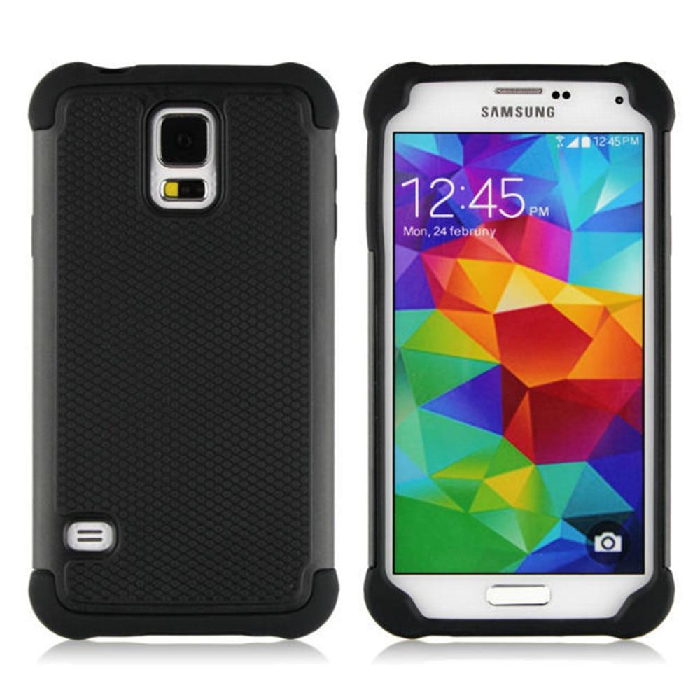 Shockproof Cover Plastic Case S7-Edge Silicone Samsung Galaxy S5 Mini Plus For S3 S4