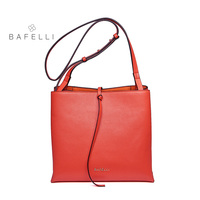 BAFELLI Women basis Bucket Bags Cow Leather Women Messenger Bags Solid Lady Cross Body Bag Tassels Shoulder Bag Female Bo