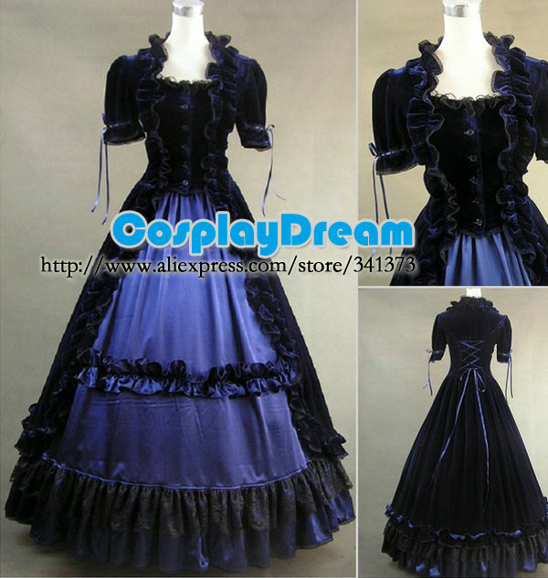 Hot Sale!!custom made Elegant Sweet lolita gothic prom dress women ...