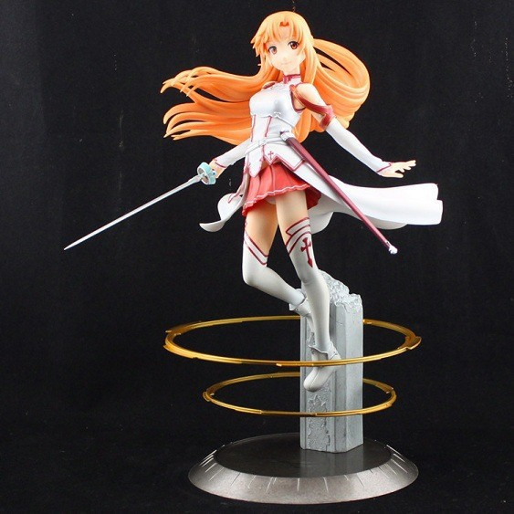 Free Shipping Japanese Anime Sword Art Online Asuna PVC Action Figure Toy 22cm Cute Aincrad Figure SOFG003