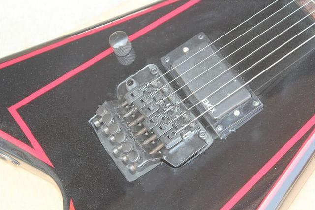ALEXI-600 alien v-shaped double wave ESP electric guitar After black left-handed grooves 0320 1