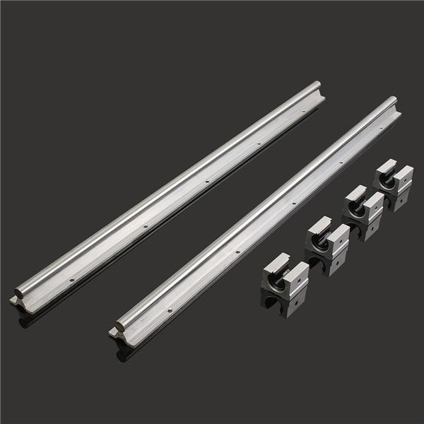 2017 NEWEST 2Pcs SBR16-750MM Rails 16mm Linear Support Bearing Rail +4 Slide Blocks CNC SBR16UU for DIY CNC routers section three track rail drawer slide rails 3 row ball bearing linear guides thicker