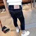 Дети весна осень джинсовые брюки Новые 2016 детей джинсы мальчики джинсовые Брюки детские дети джинсы черный мальчик Джинсовые брюки 2-7year