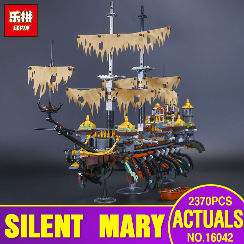 Lepin 16042 2344Pcs New Pirate Ship Series Building Blocks The Slient Mary Set Children Educational Bricks Toys Model Gift 71042 lepin 22001 pirate ship imperial warships model building block briks toys gift 1717pcs compatible legoed 10210