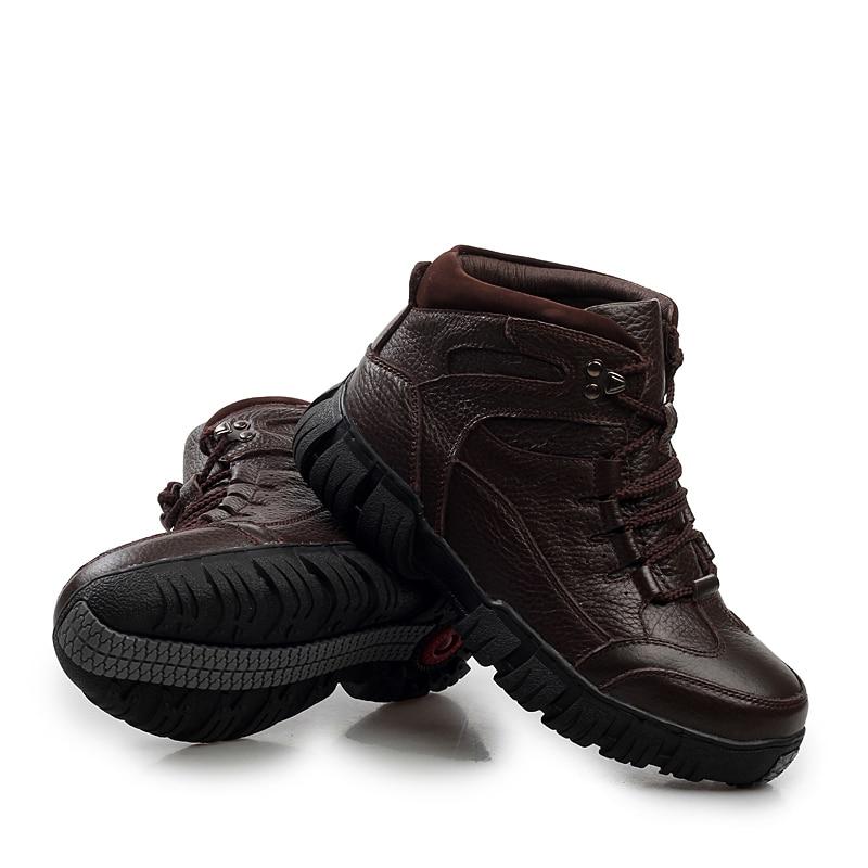 Hiver noir Hommes 209 Bottes Super Militaire Wool Véritable D'hiver Fourrure marron Chaussures En Cuir Chaud Add Hh add Wool Pour l1KJcF