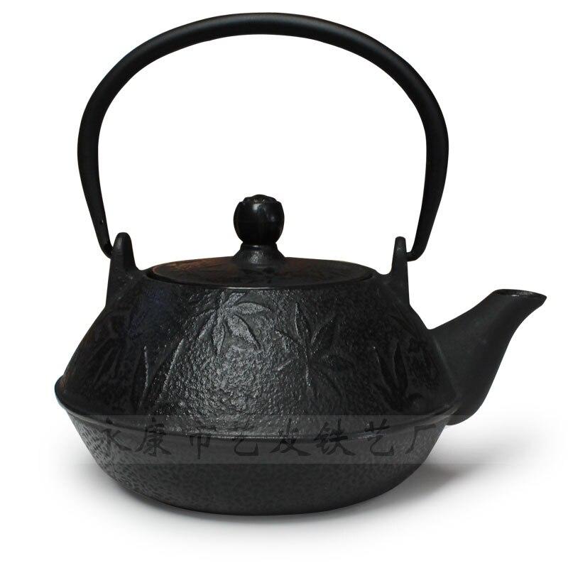 Arts amis japonais fonte théière érable ancienne fer bouilloire Kung Fu thé livraison gratuite