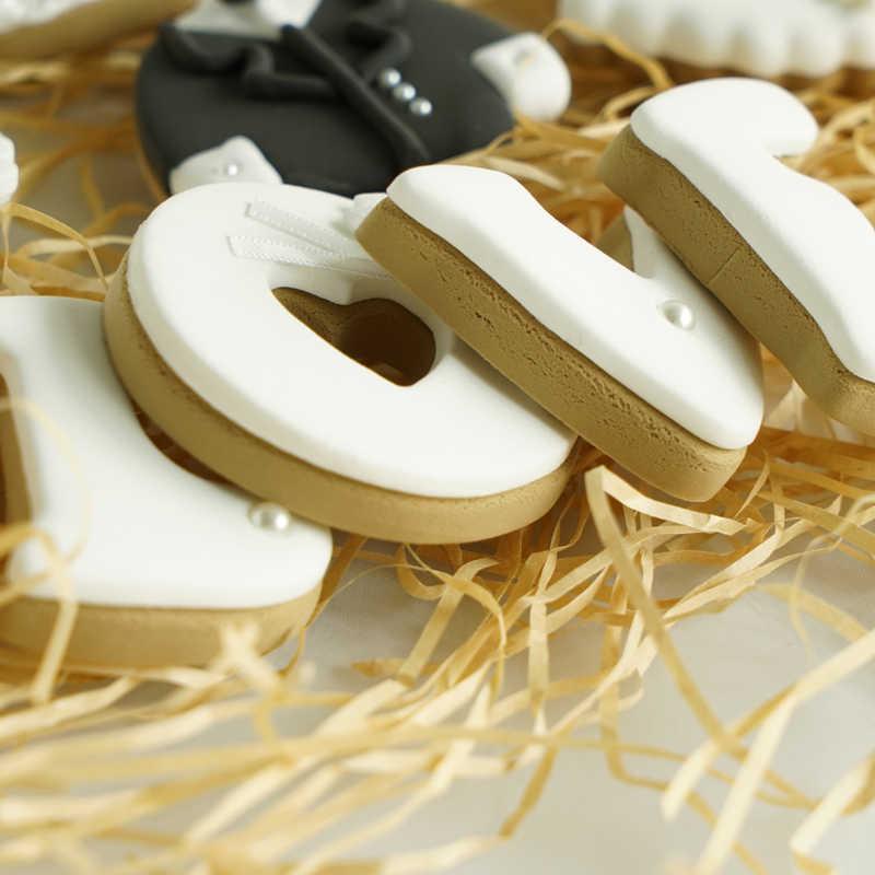 Имитация свадебного печенья поддельные десертные модели золотой цвет глина десерт украшения для витрины фотографии реквизит какетные буквы