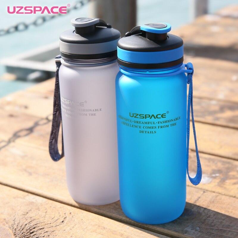 UZSPACE Botol Air 650 ml 1000 ml Kapasitas Minum Air Portabel Plastik - Dapur, ruang makan, dan bar - Foto 3