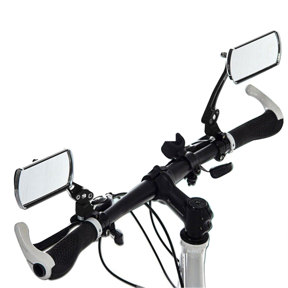 2 Aluminum Bike Mirror Mtb Bicycle Adjustable Rearview Handlebar End Rear Back High Quality Easy To Install Bike Accessories #30