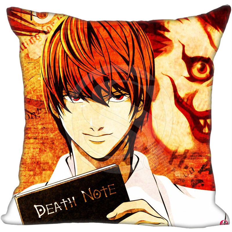 New Anime Death Note Pillowcase Cartoon Yagami Light  two sidesSoft Pillow case &F