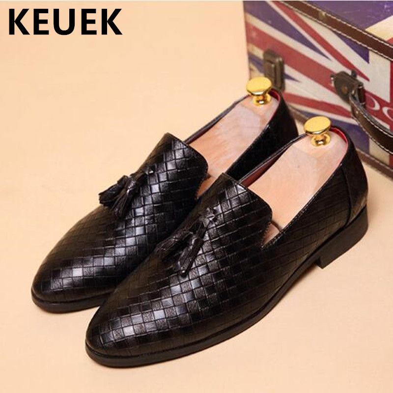 Men Tassel shoes High quality Casual Leather shoes Spring Breathable Loafers Male Slip On Flats chaussure homme Oxfords 03 pointed toe tassel leather shoes men slip on brogue shoes flats british style rivet shoes casual loafers chaussure homme 022