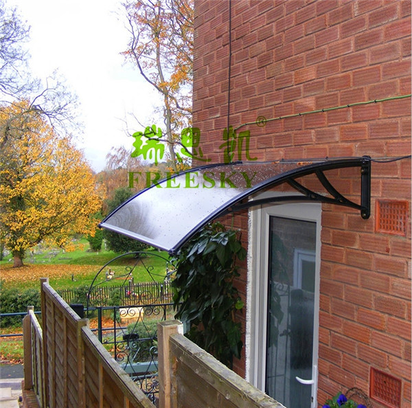YP80100 80x100cm 31.5x39in depth 80cm width 100cm clear/white/black polycarbonate awnings for home