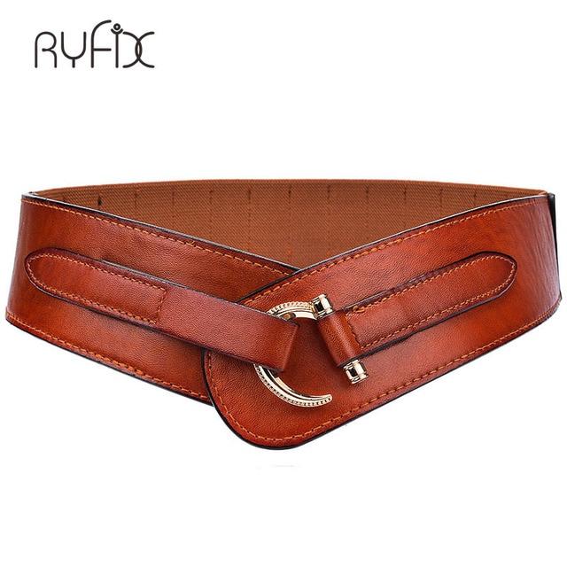 De Mujeres ancho cinturón anillo decorado Simple de moda mujer para las  mujeres vestido chaqueta elástico 629d40e3c192