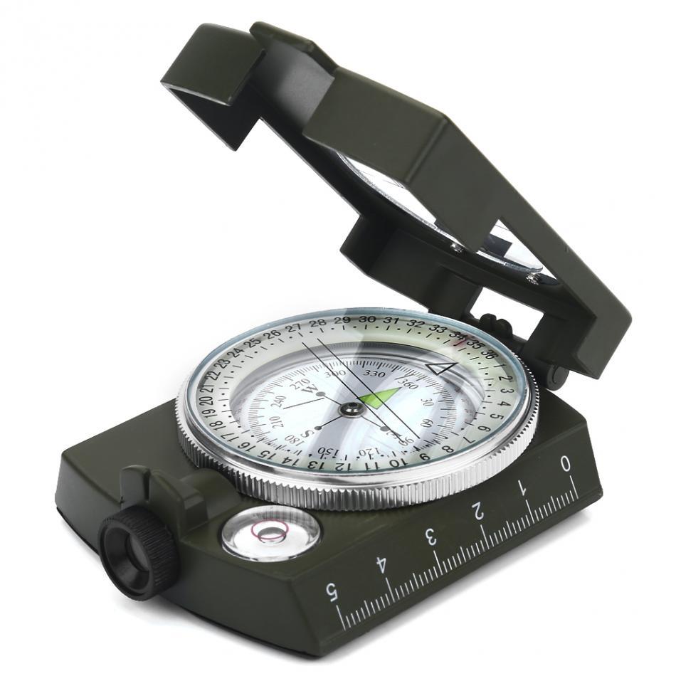 13fd32a1e Outdoor Equipment Camping Survival Compass Military Sighting Luminous  Lensatic Waterproof