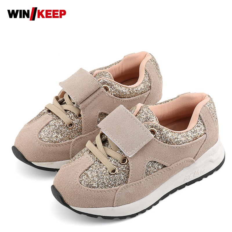 Spring Autumn Glitter Children Shoes Comfortable Baby Girl Walking Shoes For Boy Sneaker Toddler Faux Suede Trainer Black Pink 1 pair fist walkers toddler shoes lovely new soft comfortable nice shoes for baby girls boy nice genuine leather spring red
