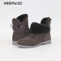 New Sheepskin Boots Comfortable Warm Snow Boots New Women Boots Sheepskin Wool Boots