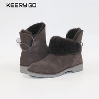 New Sheepskin Boots Comfortable Warm Snow Boots New Women Boots Sheepskin Wool Boots