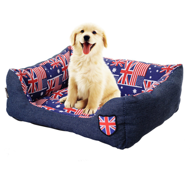 US $19.14 32% OFF|Large Dog Bed House for Dogs Warm Pet Sofa Puppy Kennel  Sleeping Mat Waterproof Pet House for Pug French Bulldog 724H29-in Houses,  ...