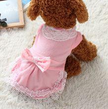 FG11 Free shipping Dog Dress Summer Teddy Dress Pet skirt Dress Pet Clothes NEW arrival