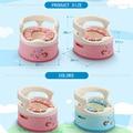 2016 suave cajón orinal bebé higiénico niño bebé higiénico pequeños bebés y niños pequeños para sin baño cepillo