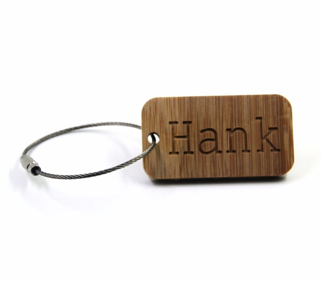 GOALFOOK handmade custom name keychain bamboo engrave name keychain for men pers