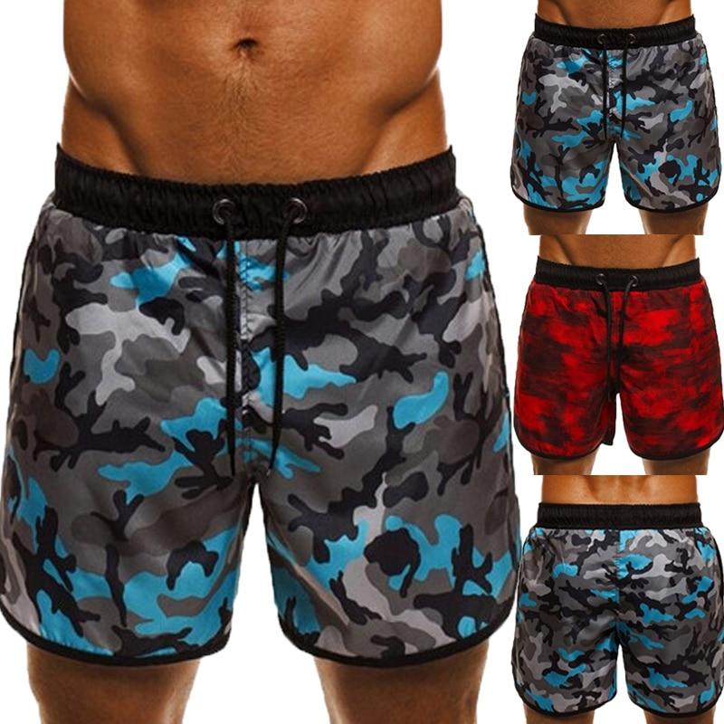 Men's   Shorts   Vacation Beach   Board     Shorts   Military Camouflage Floral Print Loose Fitness Joggers Drawstring Hawaii Milk Silk