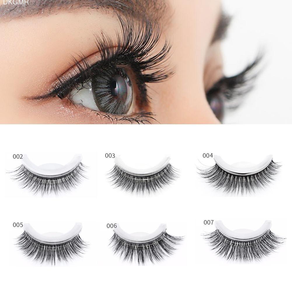3D Mink Reusable Self-adhesive False Eyelashes Natural Curly Thick No Glue Fake Eyelashes Make-up Tools Eye Lashes Extension