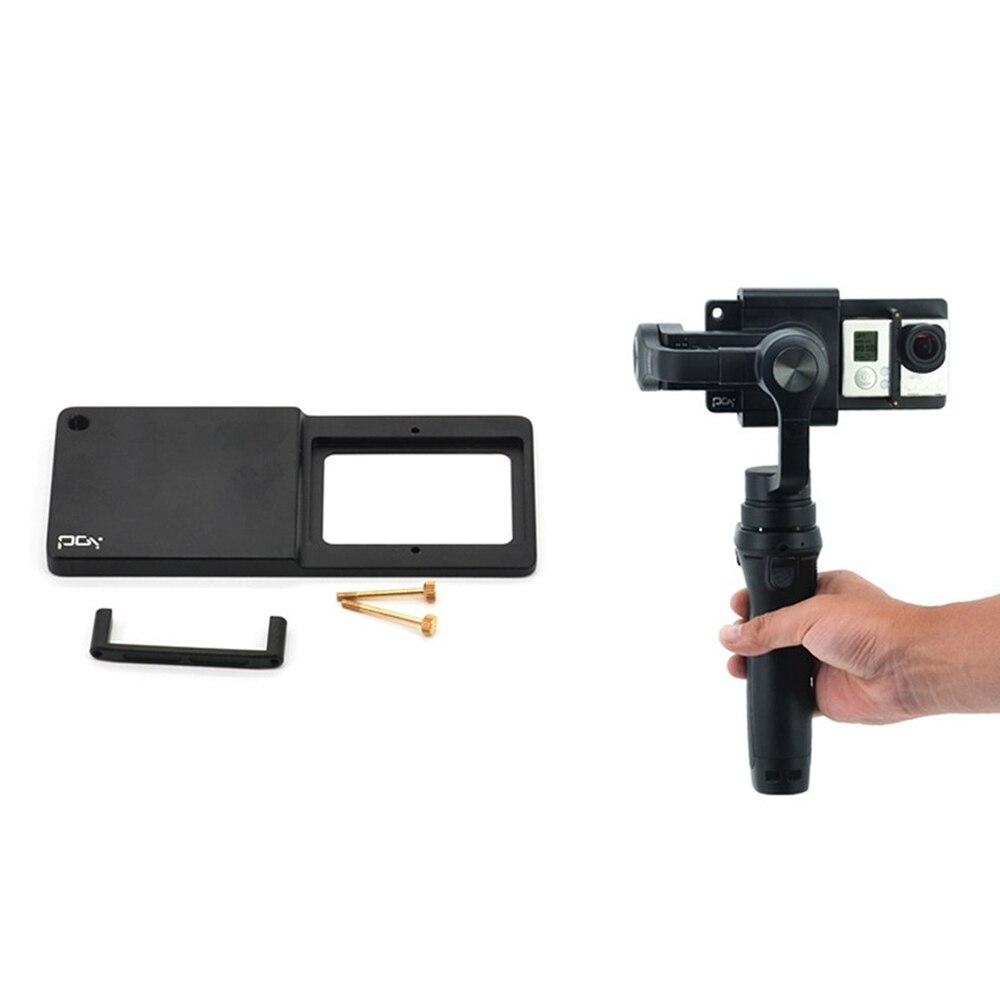 Aluminio Clip Mount Plate Adapter Connector para Gimbal zhi yun vimble2 conecta Gopro Hero 3 +/4/5 6 Go pro adaptador de montaje de cámara