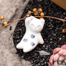 Бытовые повседневные палочки для еды держатель милый кролик керамические палочки для еды манящий Кот 1 шт