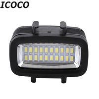ICOCO 30M Waterproof Super Bright Underwater LED Video Light Action Camera Diving Lamp Suitable For GOPRO