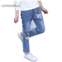 Jeans For Girls High Quality Baby Girl Jeans Pants Cartoon Pattern Formal Trousers 2017 Spring Autumn