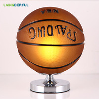 Basketball Desk lamp Table lamp 220V EU Plug Dimmable Bedside lamp Bedroom Decoration Night light Creative Birthday Kids Gift