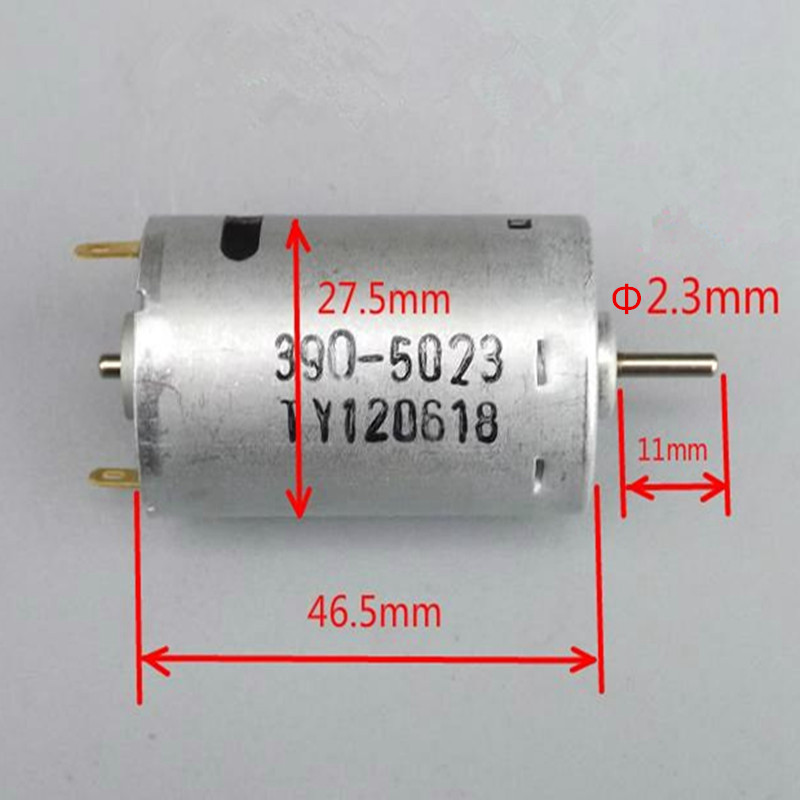 Original 7.2V 390 DIY Micro DC Motor 22000RPM High Speed Great Torsion RC accessories Free Shipping