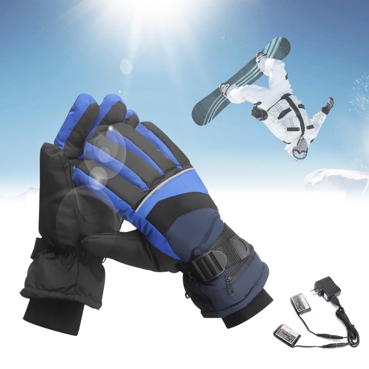 Mofaner Waterproof Motorcycle Electric <font><b>Heated</b></font> <font><b>Gloves</b></font> Outdoor Snowboarding Work Winter <font><b>Gloves</b></font> Hands Warmer Rechargeable <font><b>Battery</b></font> L