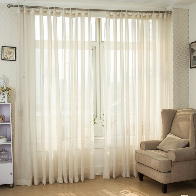 (270cm High) 2015 Hot Sale American Original Single Yellow Curtains For  Living Room Window