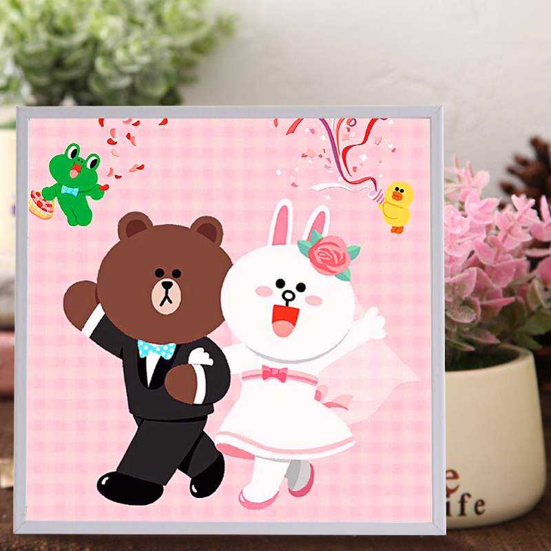 bearrabbit puzzle resin painting educational toy for children 3d diy handmade gift creative stickers toys education game t150 - Preschool Painting Games