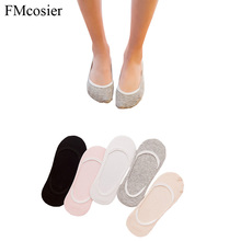 10 Pairs Female Womens Ladies Cotton Short No Show Slipper Socks Non-slip Low Cut Boat Invisible Socks Loafers for Women lot