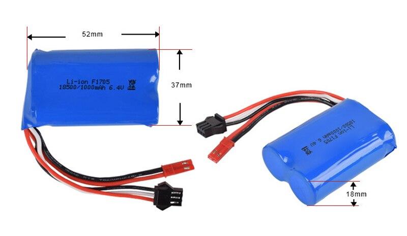 US $10.99  6.4v 1000mah 15C 18500 akumulator litowo jonowy RC bateria do zabawek JST 2P darmowa wysyłka battery rc rc batterybattery 1000mah